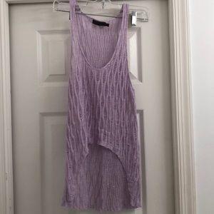 LF Purple Crochet Cover Up